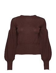 VIOLATTA SWEATER TOP - PURE CHOCO