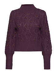 PIERRE SWEATER TOP - ROYAL VIOLET MULT