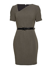 CARLISIA DRESS - GRANITE HEATHER M