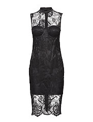 LOU LACE DRESS - JET BLACK A996