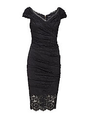 RIVA LACE DRESS - JET BLACK A996