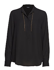 TAYLOR WEAVED CHAIN TOP - JET BLACK A996