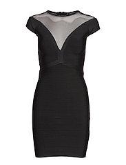 PRIYA BANDAGE DRESS - JET BLACK A996