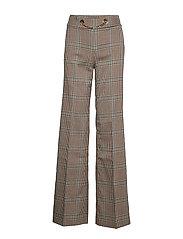 SELMA PLAID PANT - CHECK WARM BEIGE/