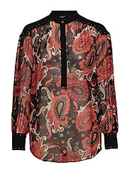 PAISLEY FANTASY TOP - BLACK PAISELY FAN