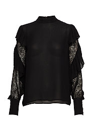 FELL IN LOVE BLOUSE - JET BLACK A996