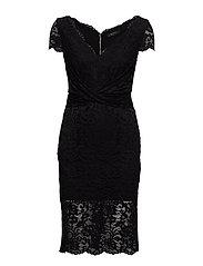 CLAUDIA LACE DRESS - JET BLACK A996