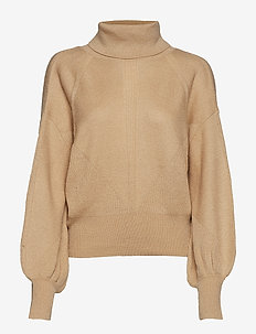 BEATRICE SWEATER TOP - WARM BEIGE