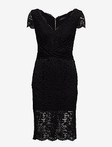 CLAUDIA LACE DRESS - spetsklänningar - jet black a996