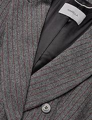Marella - TIFFANY - wełniane kurtki - grey pin-strip. herringbone - 3