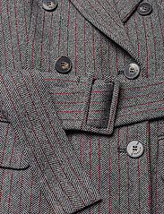 Marella - TIFFANY - wełniane kurtki - grey pin-strip. herringbone - 4