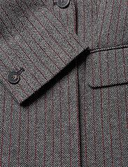 Marella - TIFFANY - wełniane kurtki - grey pin-strip. herringbone - 5