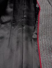 Marella - TIFFANY - wełniane kurtki - grey pin-strip. herringbone - 6