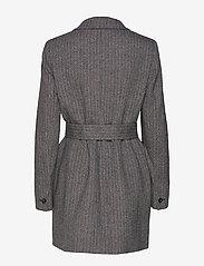 Marella - TIFFANY - wełniane kurtki - grey pin-strip. herringbone - 1