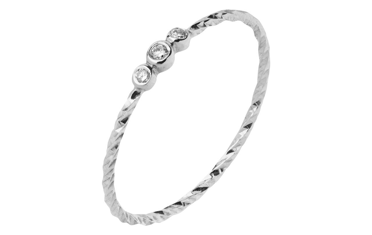 Maria Black Jessa White Gold Ring - 14K WHITE GOLD / WHITE RHODIUM