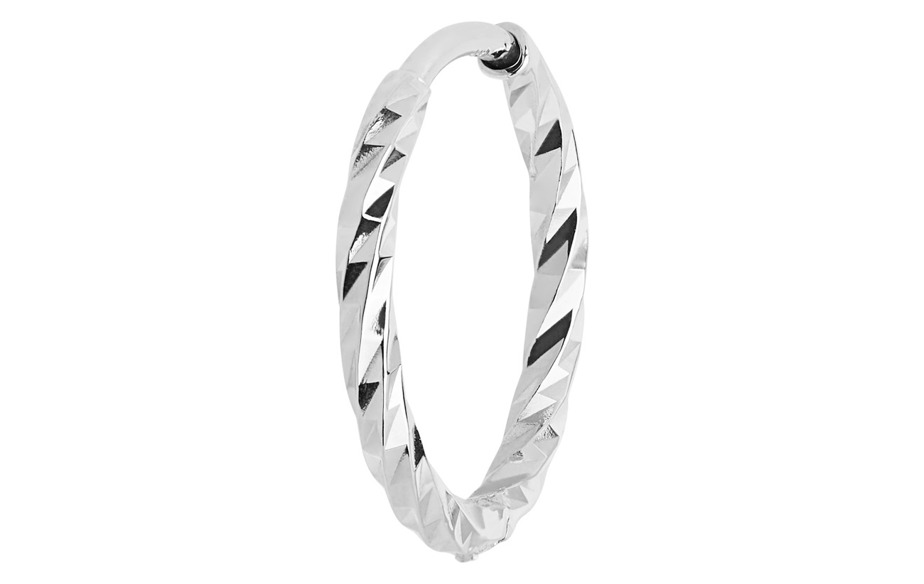 Maria Black DC Huggie - 10mm - 14K WHITE GOLD