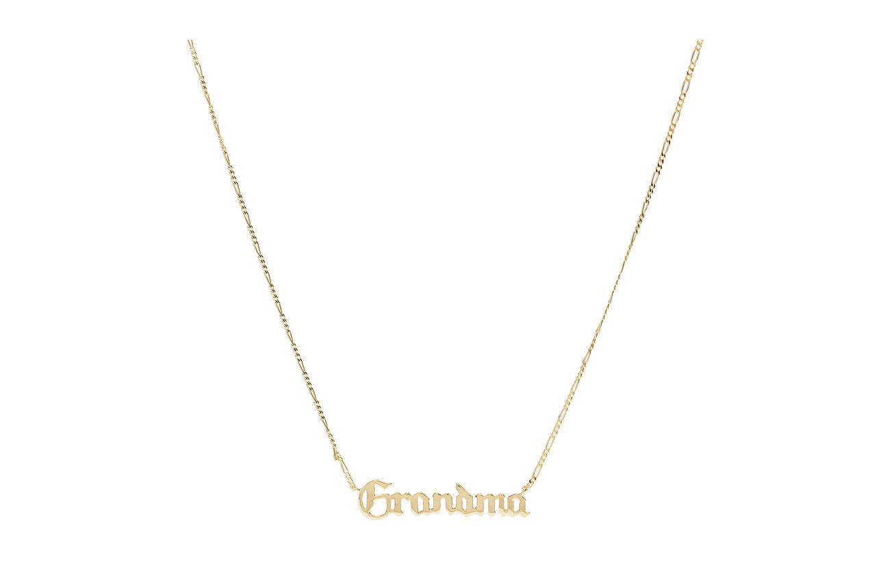 Maria Black Grandma Necklace - GOLD HP