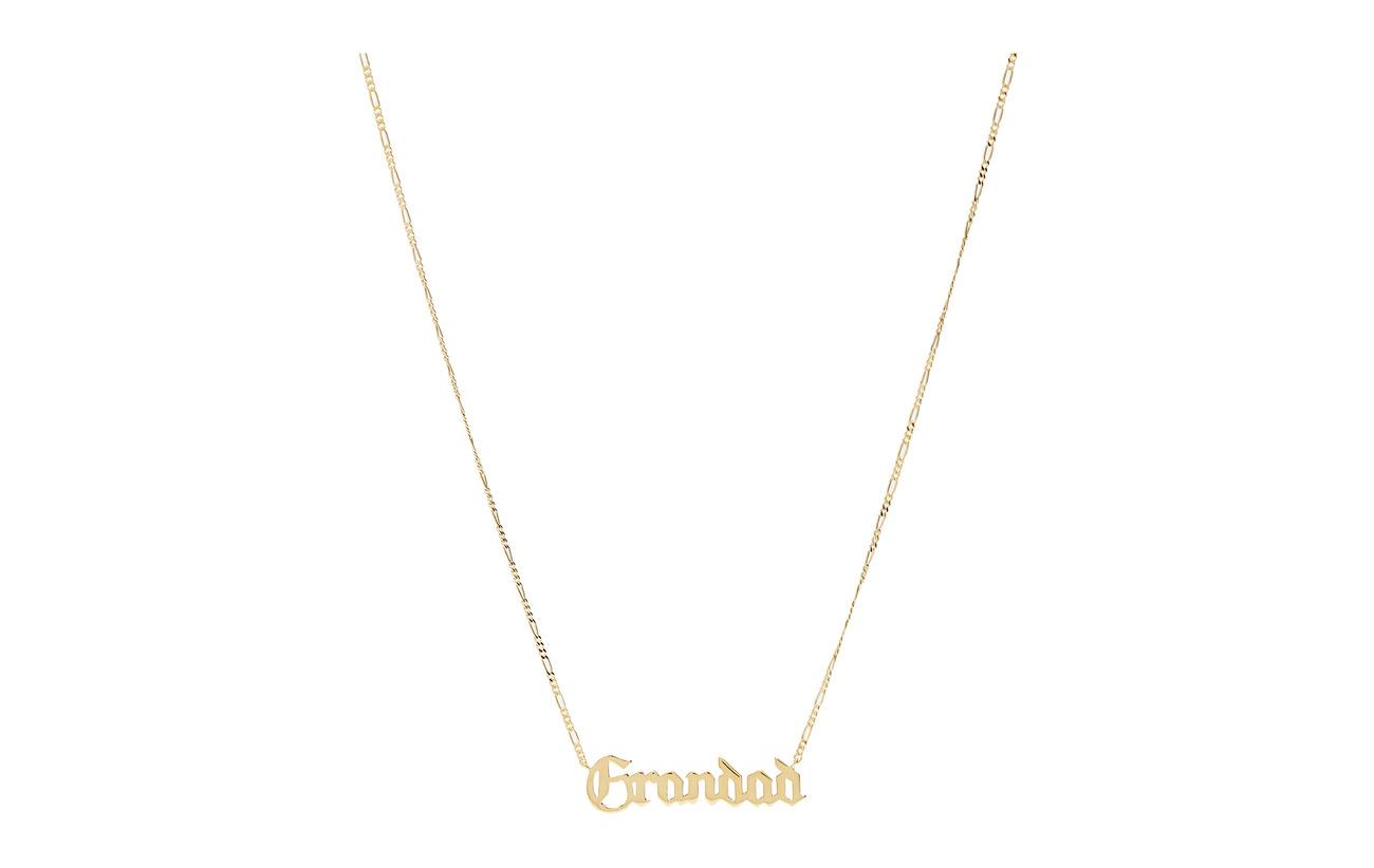 Maria Black Grandad Necklace - GOLD HP