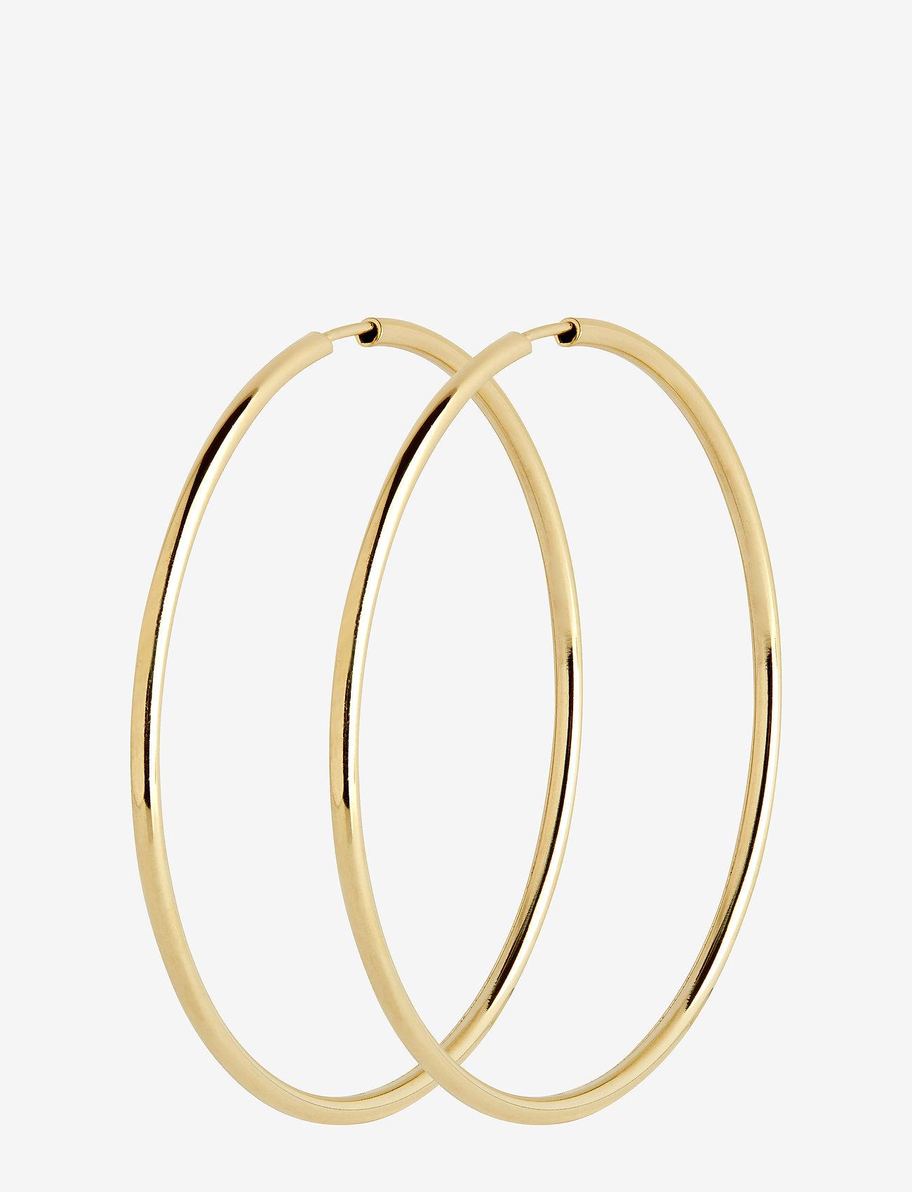 Maria Black - Sunset Hoop 50 *PAIR - korvarenkaat - gold hp