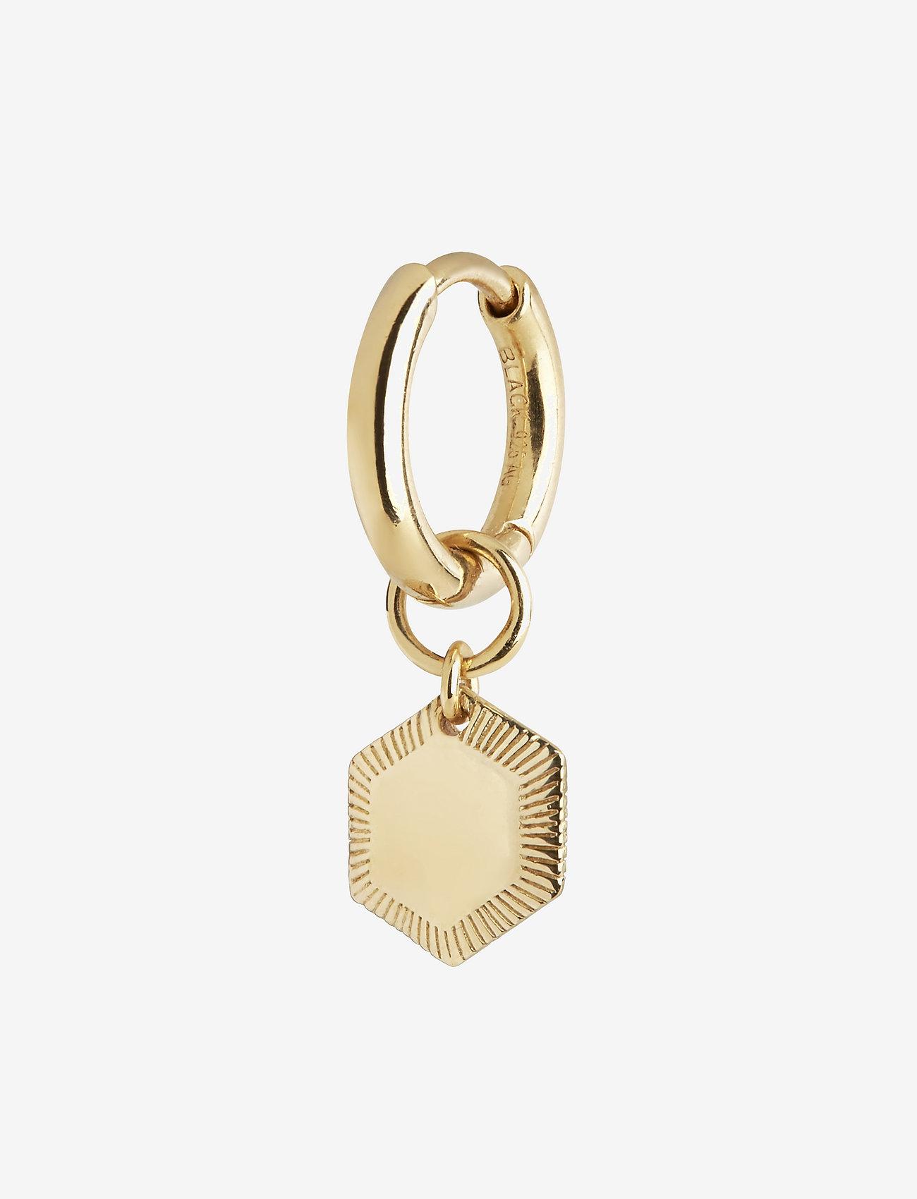 Maria Black - Ravello Huggie - pendant earrings - gold hp - 0
