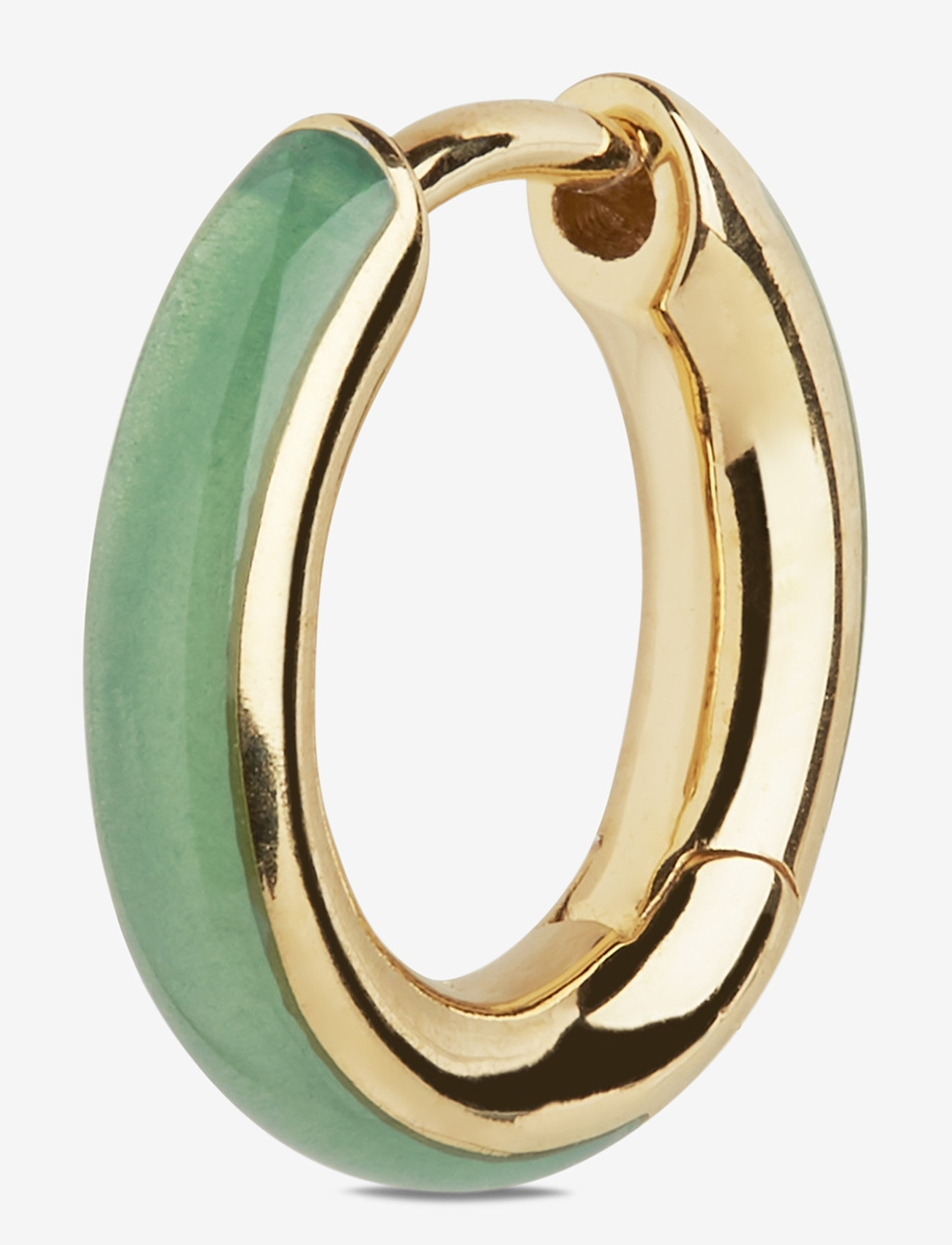 Maria Black - Kate Ebony Huggie Gold HP - hopen - gold hp/emerald - 0