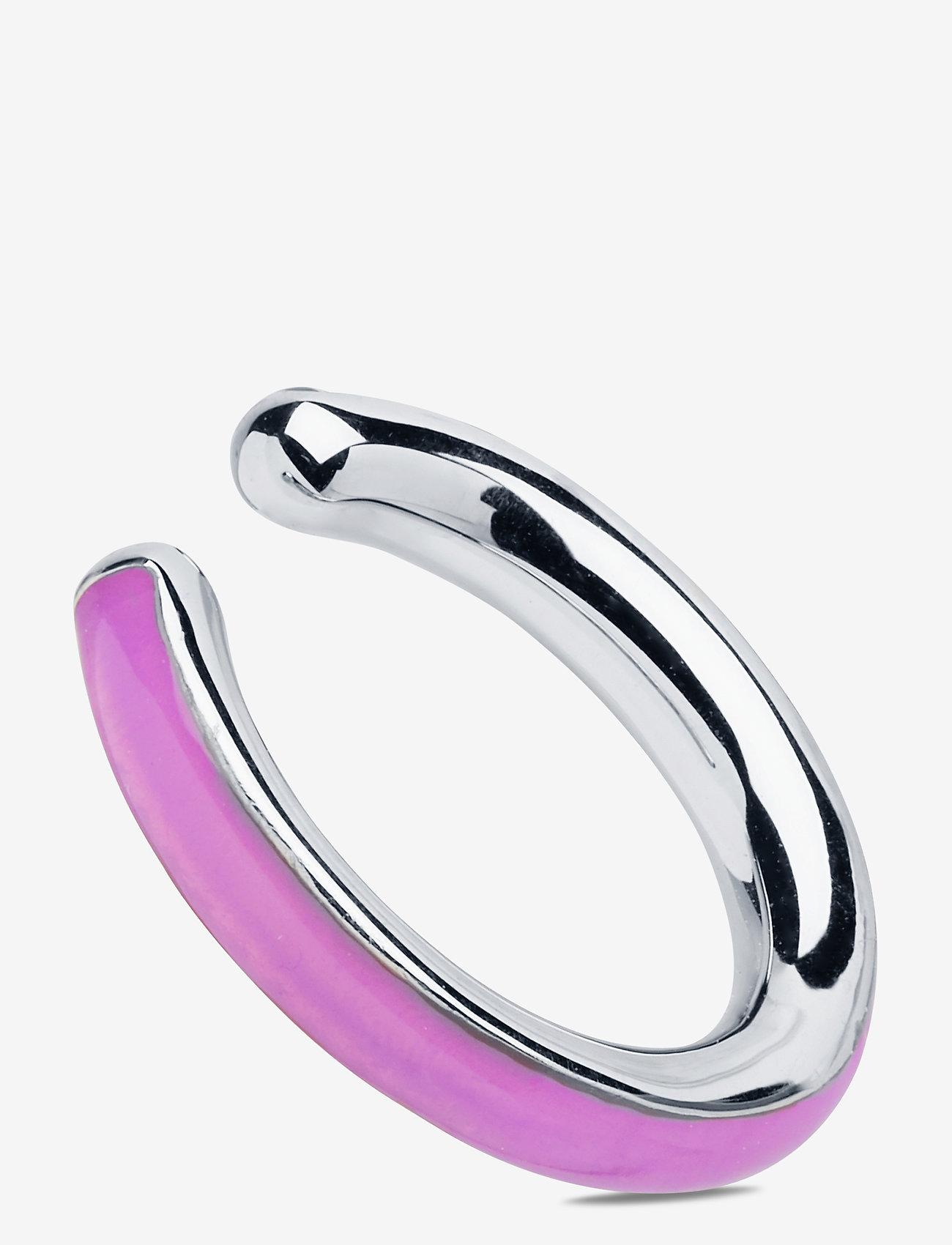 Maria Black - Cindy Ocean Ear Cuff Silver HP - ear cuffs - silver hp/lilac - 0