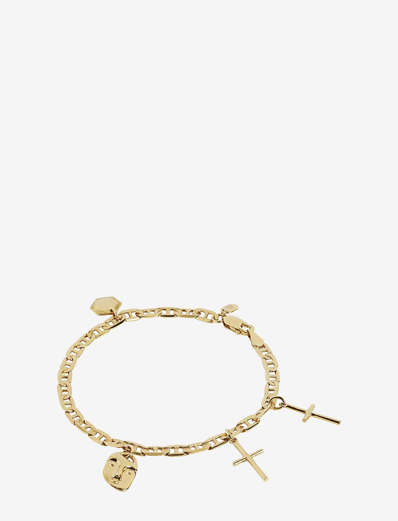 Maria Black - Friend Charm Bracelet Small - dainty - gold hp