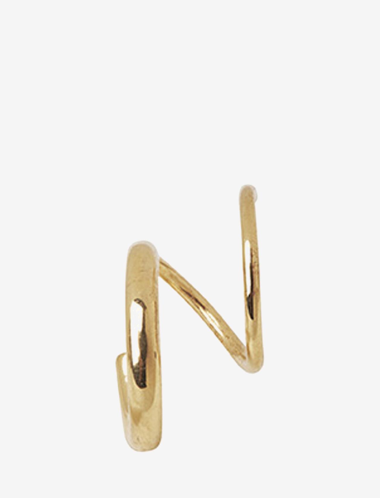 Maria Black - Dogma Twirl Earring - statement earrings - gold hp - 1