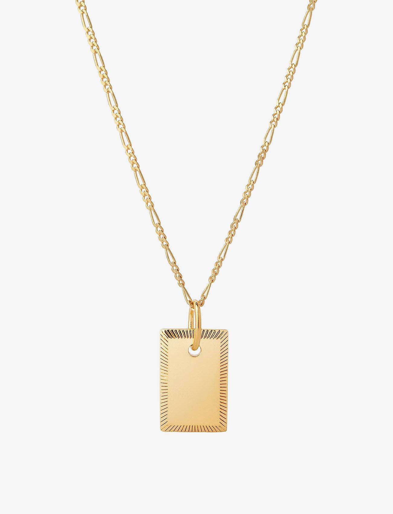 Maria Black - Eliza Necklace - små halskjeder - gold hp - 0