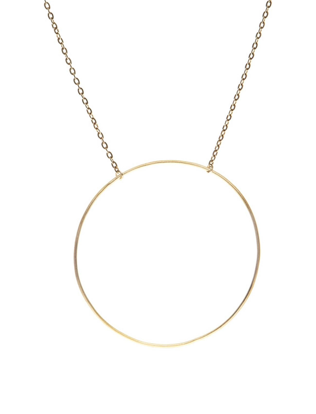 Monocle Necklace - 40/45 Cm Halskæde Smykker Guld Maria Black