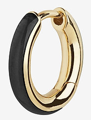 Maria Black - Kate Ebony Huggie Gold HP - hopen - gold/ebony - 0