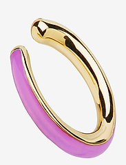 Maria Black - Cindy Coral Ear Cuff Gold HP - ear cuffs - gold hp/lilac - 0