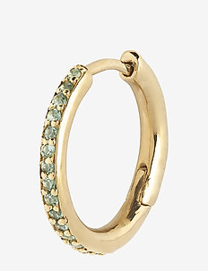 Mica Huggie Mint Gold HP - hoops - gold hp