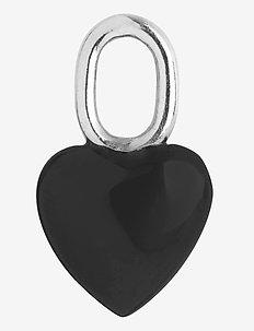 Onyx Heart Charm Silver HP - pendants - silver