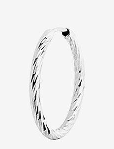 Alba Hoop 15 - creoler - 14k white gold / white rhodium
