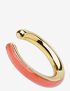 Cindy Coral Ear Cuff Gold HP - hoops - gold hp/coral