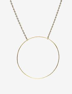 Monocle Necklace - 40/45 cm - dainty necklaces - gold hp