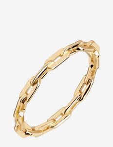 Gemma Ring Silver HP - ringen - gold hp