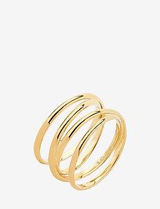 Auguste Wrap Ring - ringe - gold hp