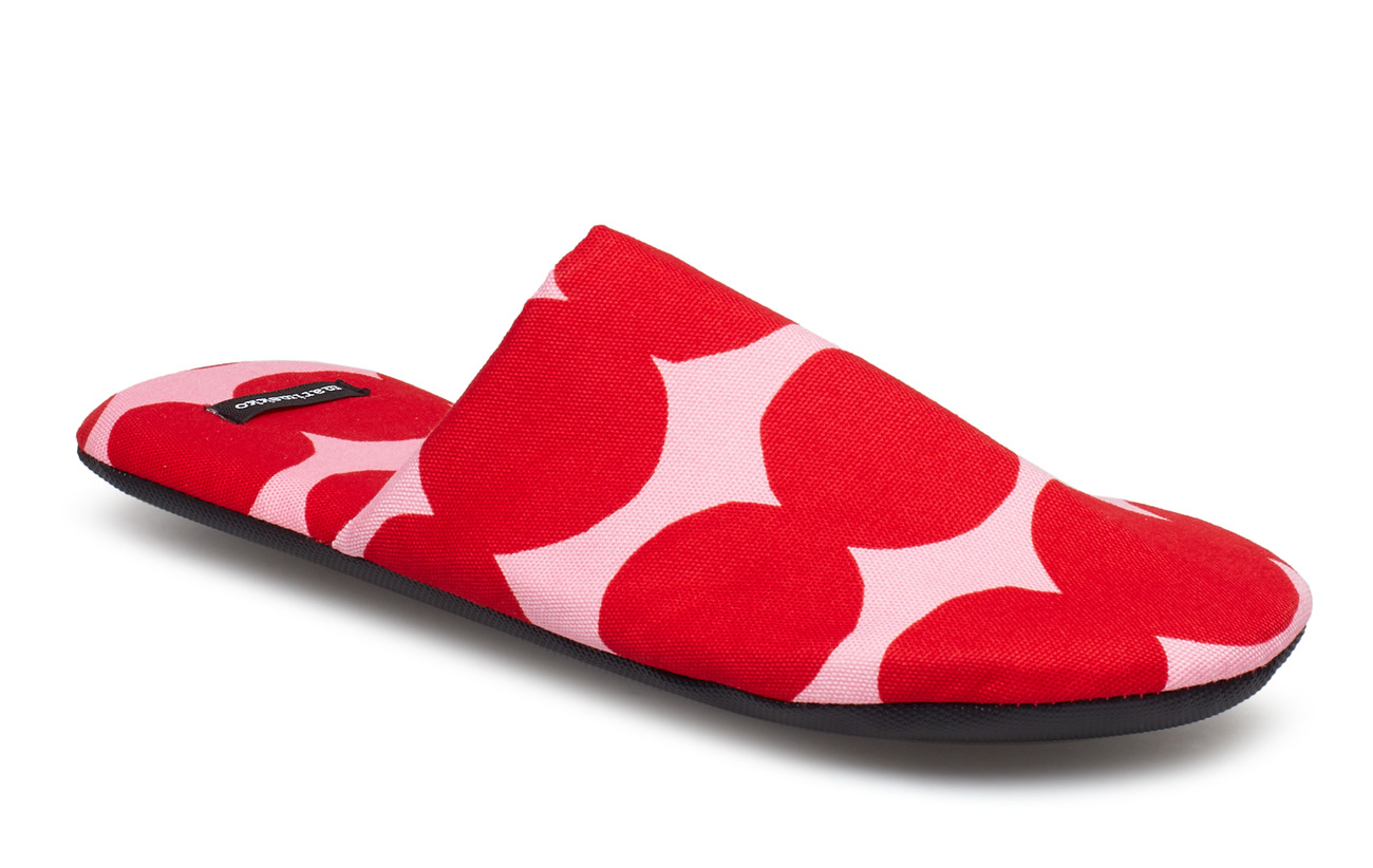 Coton 100 Home Marimekko Pink Räsymatto Slippers Red dwPqzXxYq