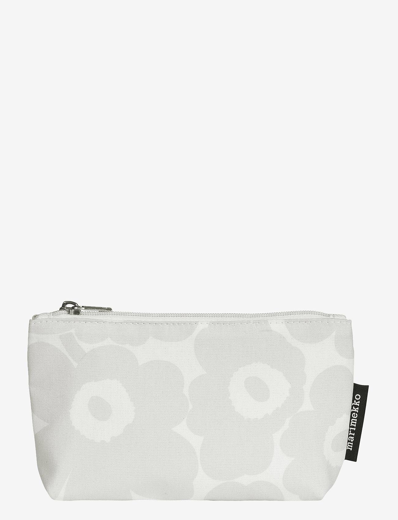 Marimekko Home - EELIA MINI UNIKKO COSMETIC BAG - toilettasker - white, light grey - 0
