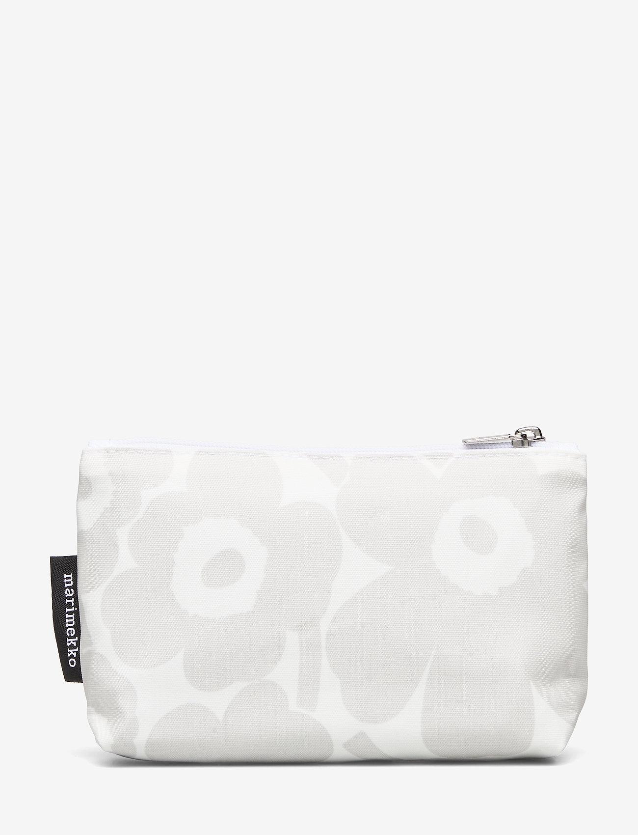 Marimekko Home - EELIA MINI UNIKKO COSMETIC BAG - toilettasker - white, light grey - 1