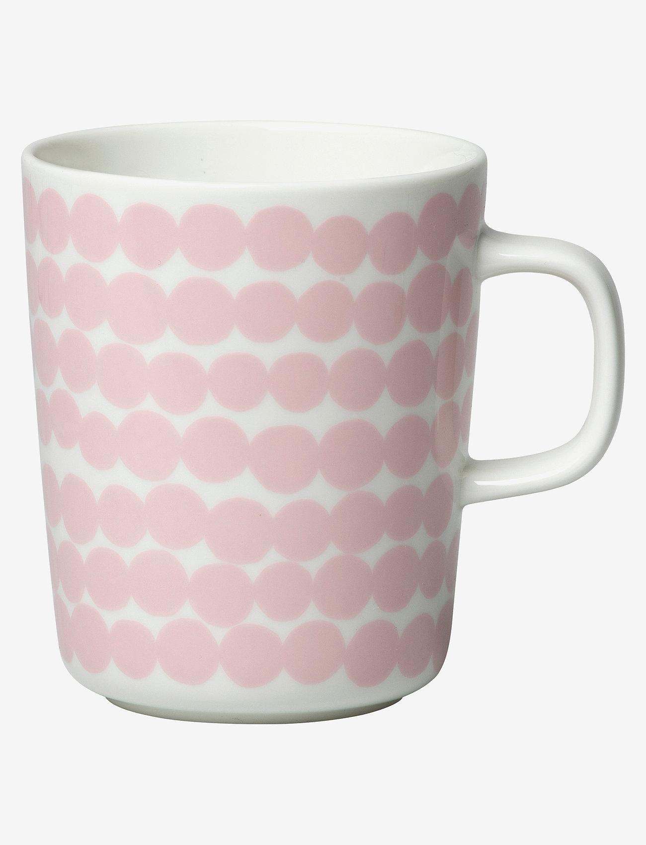 Marimekko Home - SIIRTOLAPUUTARHA MUG 2,5DL - kaffekopper - white, pink - 0
