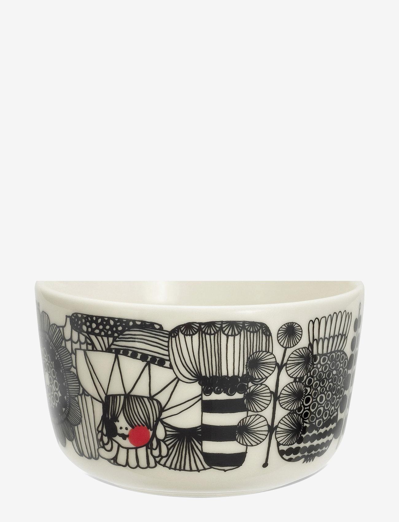 Marimekko Home - SIIRTOLAPUUTARHA BOWL - white,black,red - 0