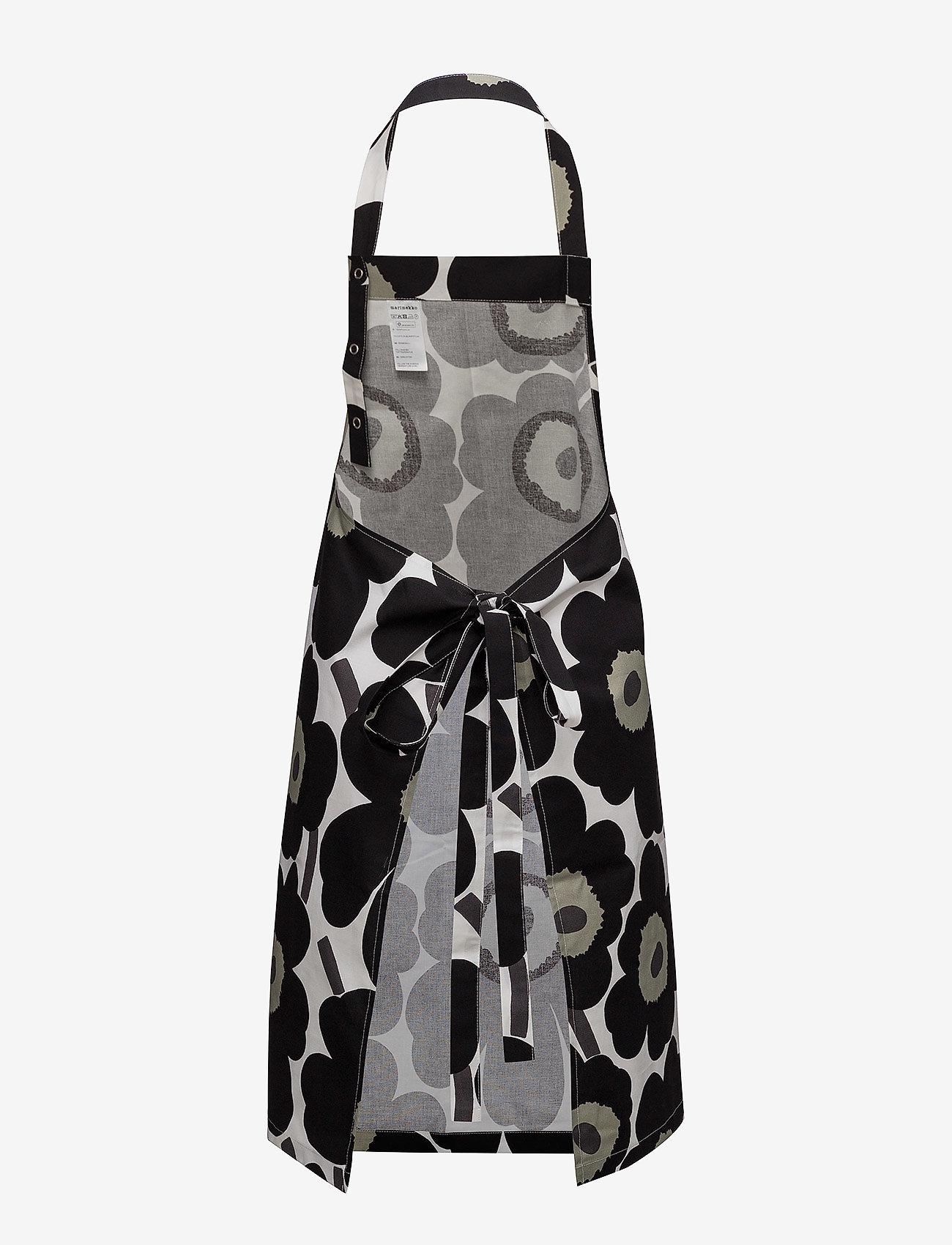 Marimekko Home - PIENI UNIKKO APRON - forklæder - white, black, olive - 1