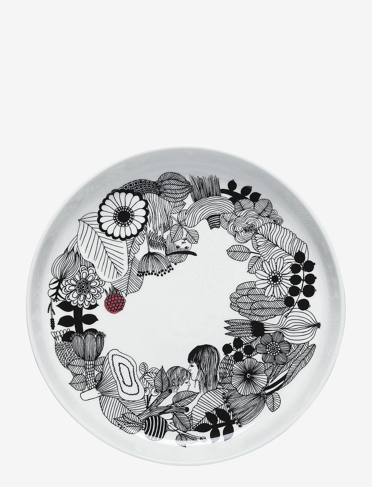 Marimekko Home - SIIRTOLAPUUTARHA PLATTER - serverings & anretningsfade - white, black, pink - 0