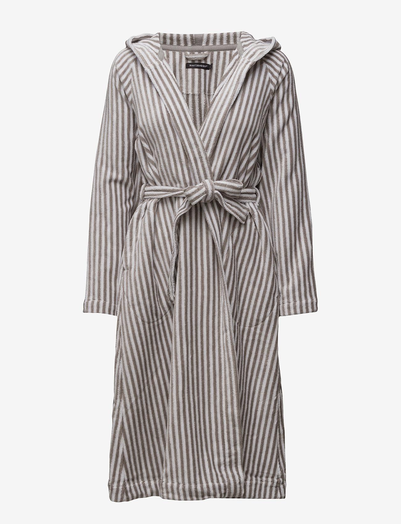 Marimekko Home - SIRO MARI BATHROBE - bathrobes - grey, white - 0