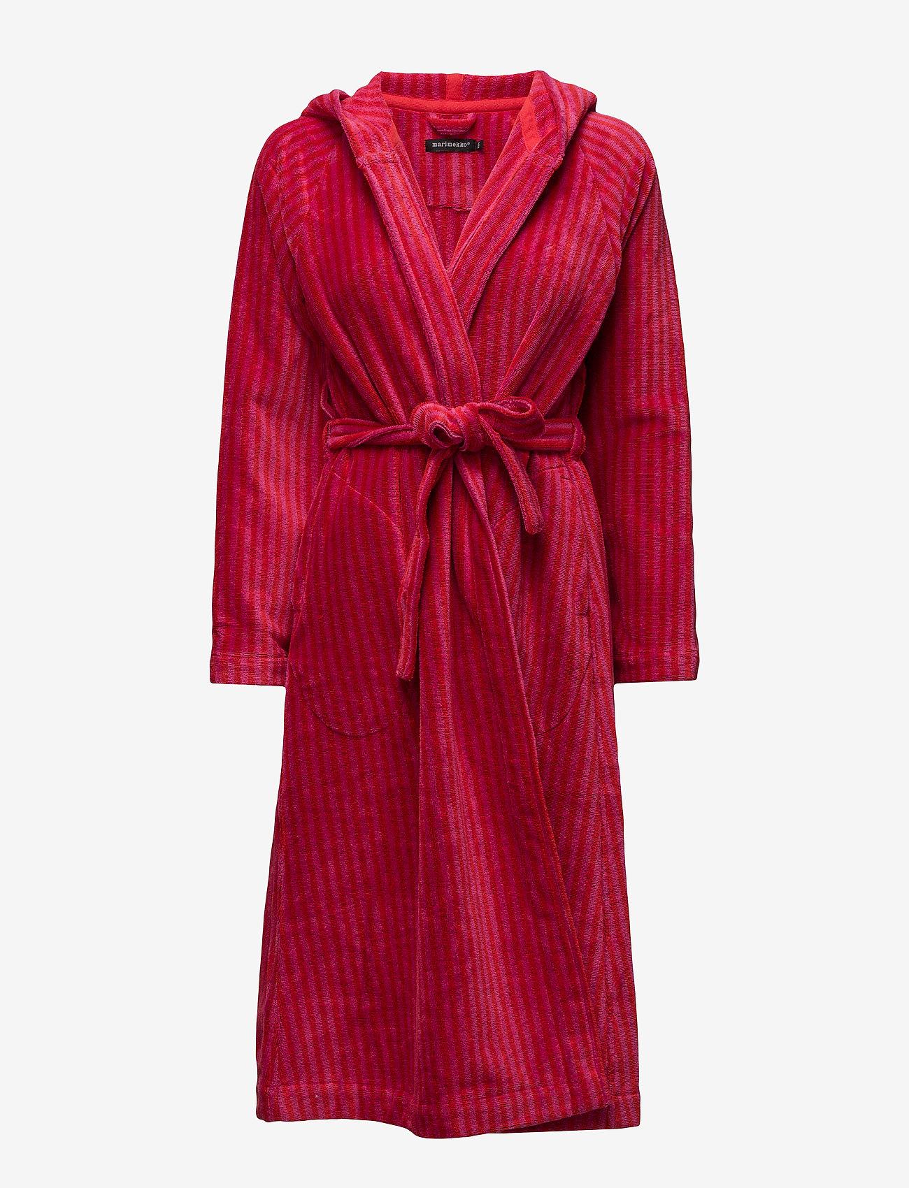 Marimekko Home - SIRO MARI BATHROBE - bathrobes - red, pink - 0