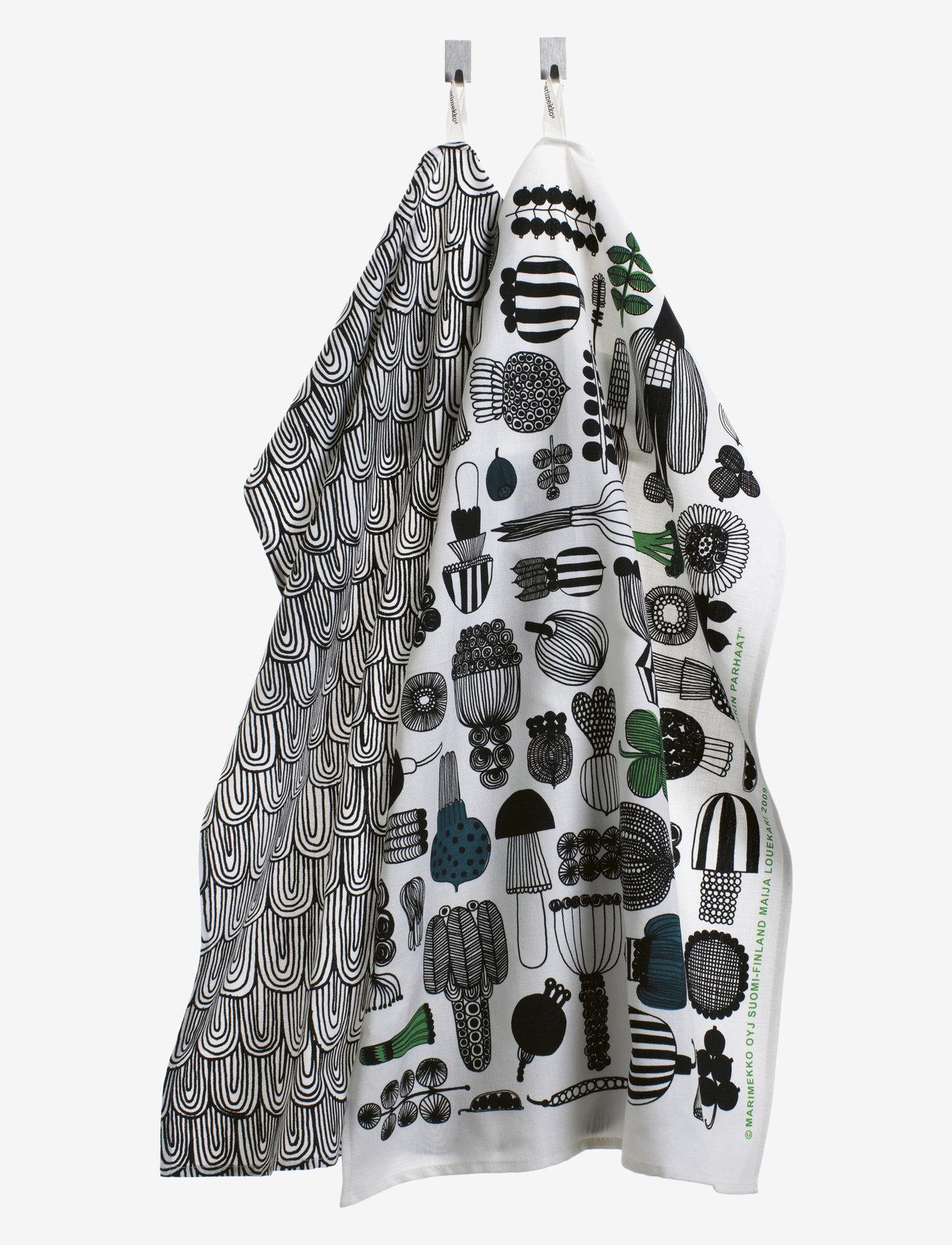 Marimekko Home - PUUTARHURIN PARHAT TEA TOWEL - ręczniki kuchenne - white,black,green - 0