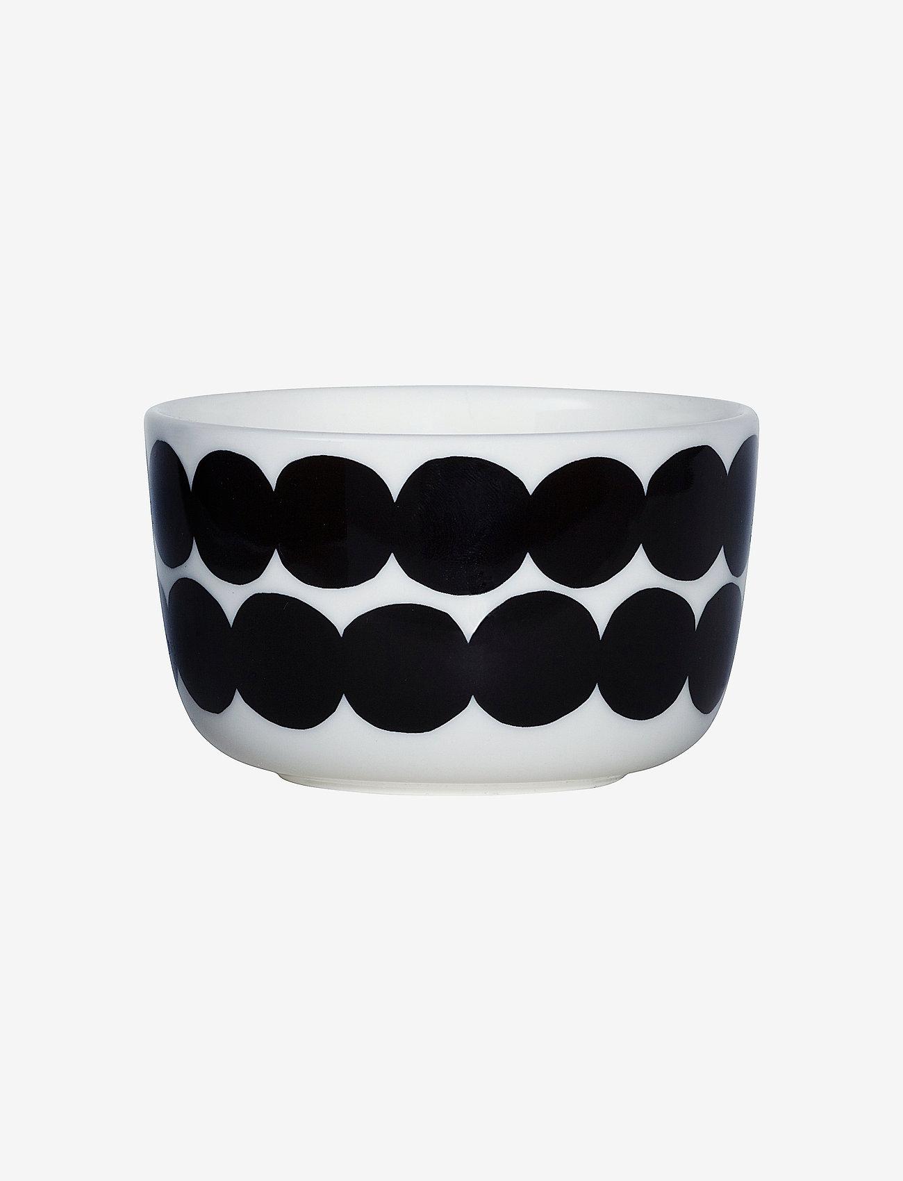 Marimekko Home - SIIRTOLAPUUTARHA BOWL 2,5DL - serveringsskåle - white, black - 0